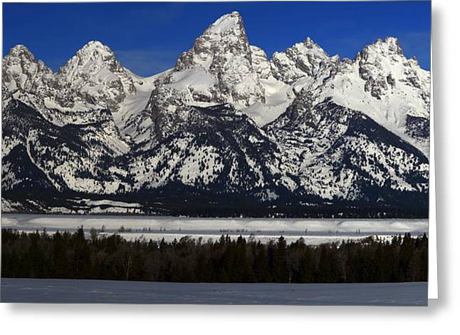 Tetons From Glacier View Overlook Greeting Card