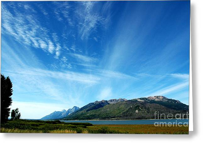 Tetons Sky Greeting Card by Alan Russo
