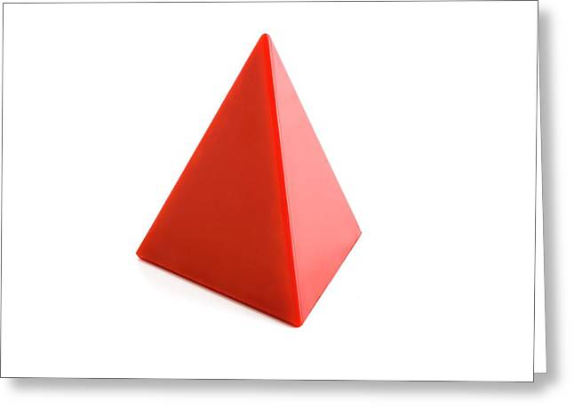 Tetrahedron Greeting Card by Science Photo Library