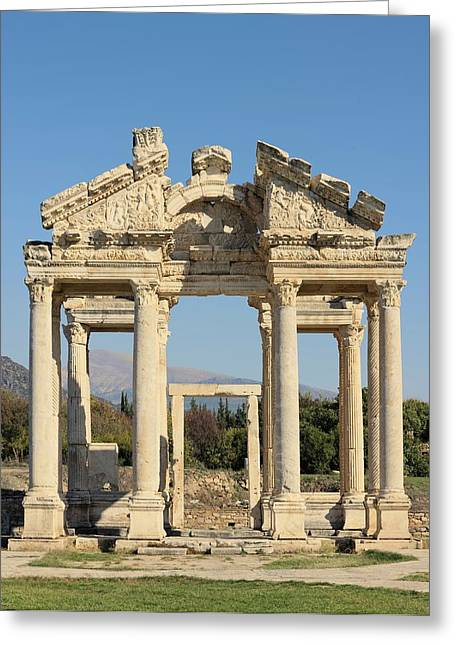 Tetrapylon At Aphrodisias Greeting Card by David Parker
