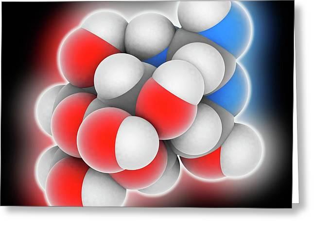 Tetrodotoxin Neurotoxin Molecule Greeting Card by Laguna Design