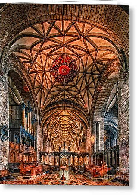 Tewkesbury Abbey IIII Greeting Card