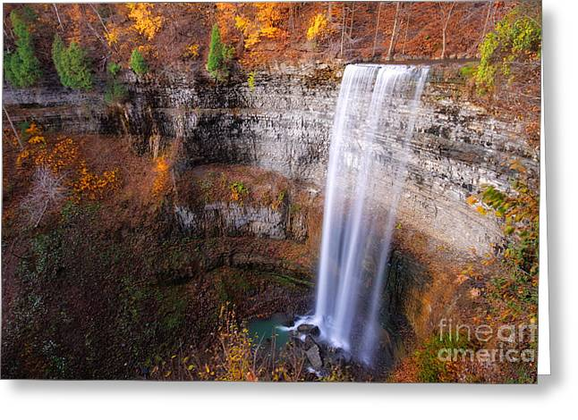 Tew's Falls Greeting Card by Charline Xia