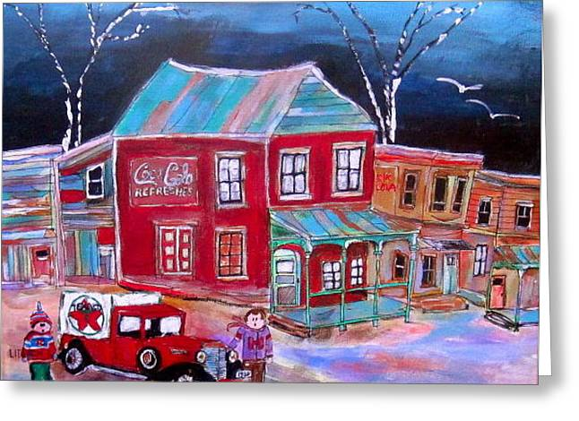 Texaco Home Delivery Greeting Card by Michael Litvack