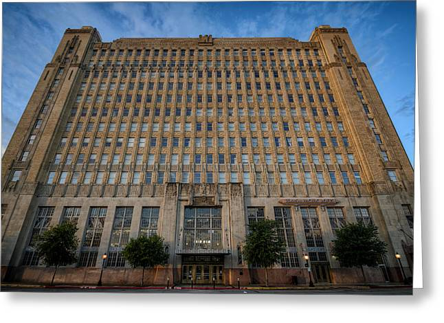 Texas And Pacific Lofts Color Greeting Card by Joan Carroll
