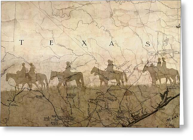 Texas And The Army Greeting Card by Suzanne Powers