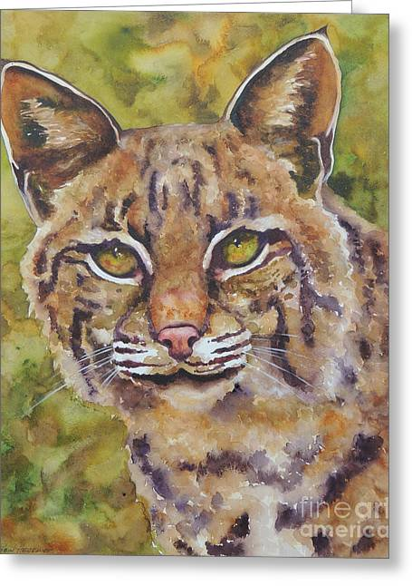 Texas Bobcat Greeting Card by Robin Hegemier