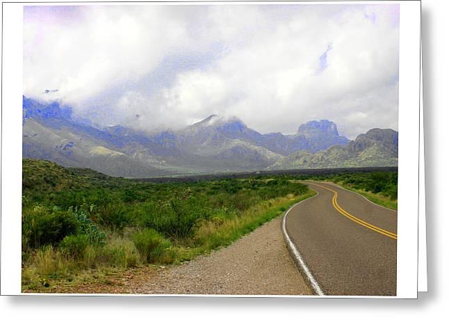 Texas Border Highway  Greeting Card
