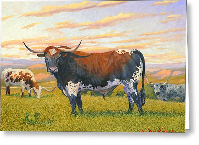 Texas Bred Greeting Card