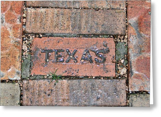 Texas Brick Walkway Greeting Card by Kathy Peltomaa Lewis