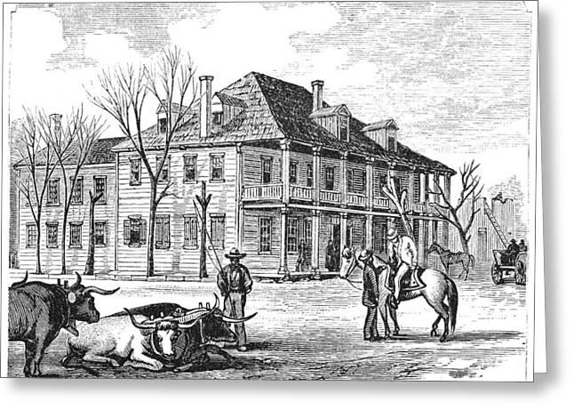 Texas Congress, 1837 Greeting Card