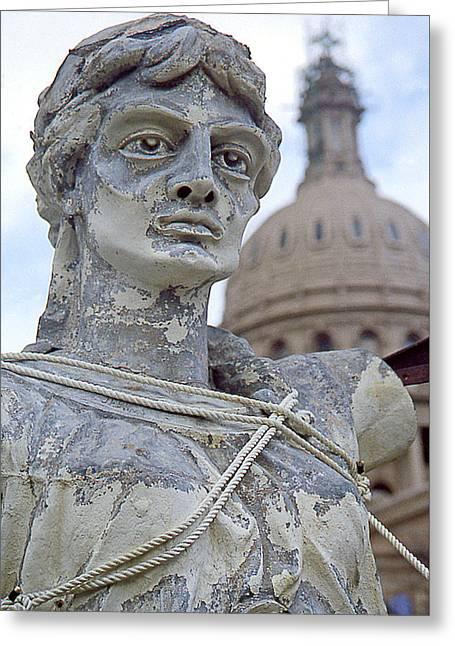 Texas Goddess Of Liberty I I Greeting Card by Jim Smith
