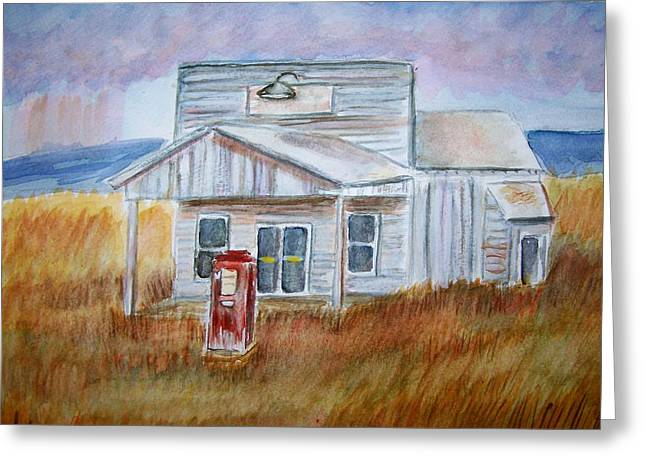 Greeting Card featuring the painting Texas Grassland by Belinda Lawson