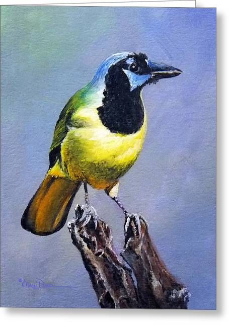 Texas Green Jay Greeting Card