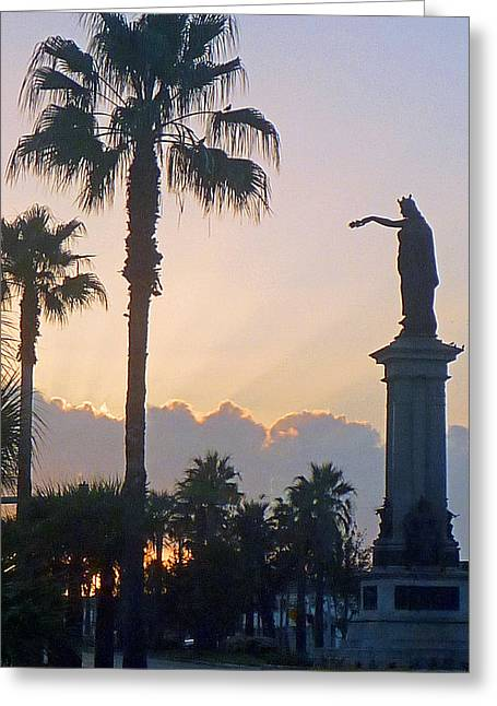 Texas Heros Monument - Galveston Greeting Card by John Collins