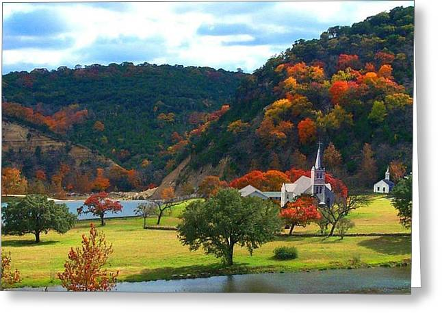 Texas Hill Country Church Greeting Card by JR Phillips