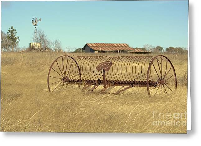 Texas Hill Country Farmscape Greeting Card by Joe Jake Pratt