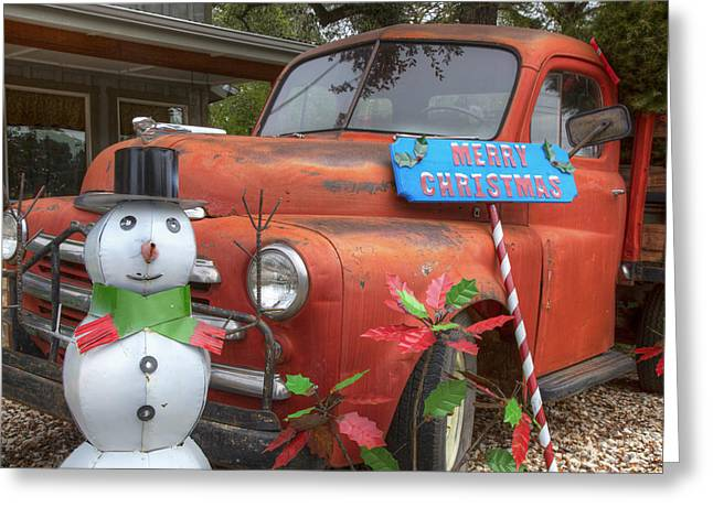 Texas Hill Country Images - Christmas Wishes From Wimberley Tex Greeting Card by Rob Greebon