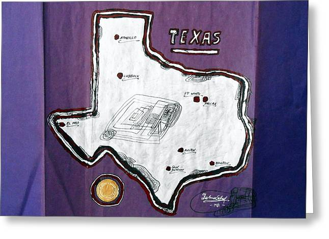 Texas Is My Home Greeting Card