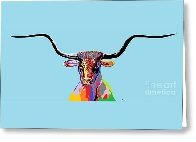 Texas Longhorn Greeting Card by Eloise Schneider