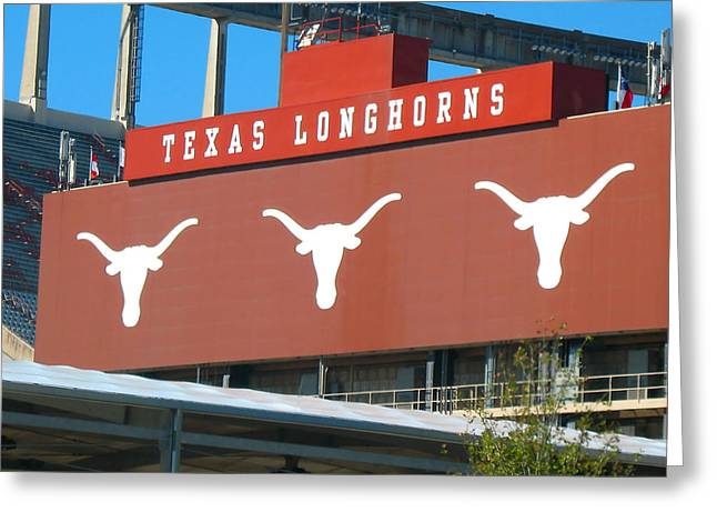 Greeting Card featuring the photograph Texas Longhorns Sign by Connie Fox