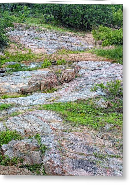 Texas Marble Landscape Greeting Card by Linda Phelps