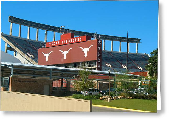 Texas Memorial Stadium - U T Austin Longhorns Greeting Card by Connie Fox