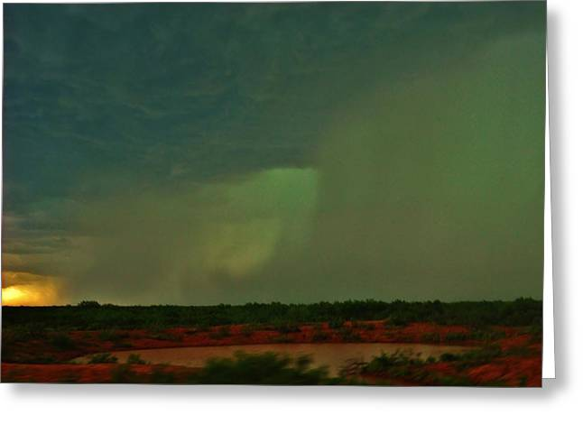 Greeting Card featuring the photograph Texas Microburst by Ed Sweeney