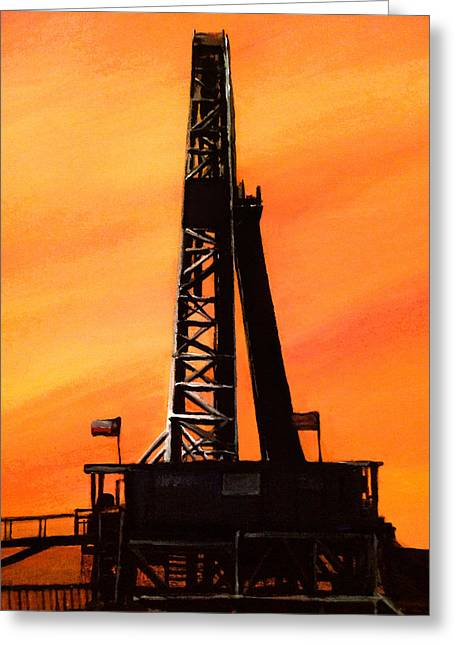 Texas Oil Rig Greeting Card