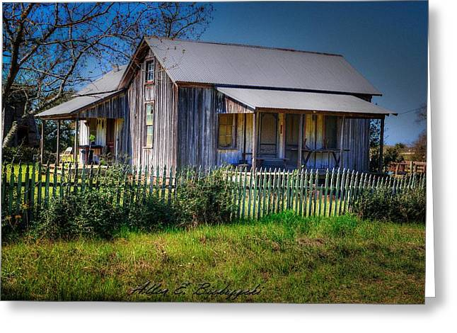 Texas Old Homestead Greeting Card