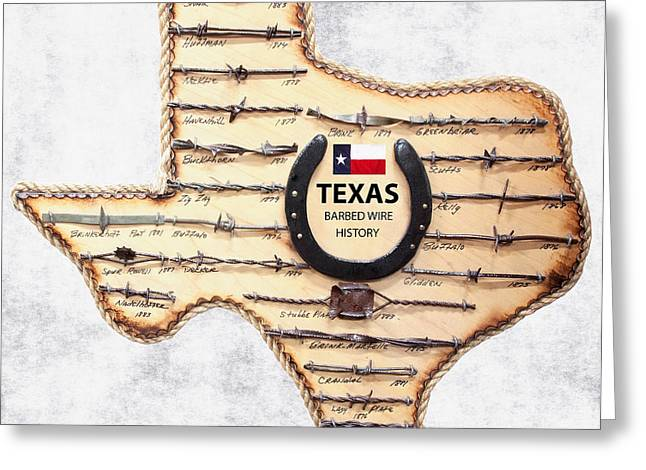 Texas Old-west Barbed Wire Greeting Card