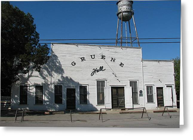Texas Oldest Dance Hall Greeting Card by Shawn Hughes