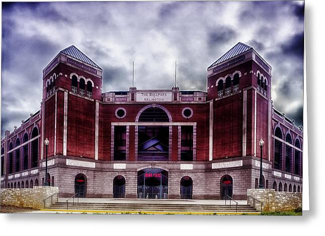 Texas Rangers Ballpark In Arlington Texas Greeting Card by Mountain Dreams