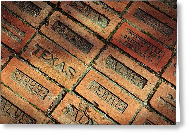 Texas Red Brick Greeting Card