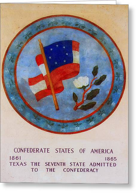 Texas - Seventh State Admitted To The Confederacy Greeting Card by Mountain Dreams