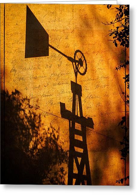Texas Shadows Greeting Card