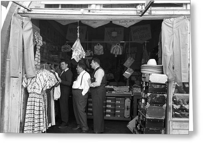 Texas Shop Owners, 1939 Greeting Card by Granger
