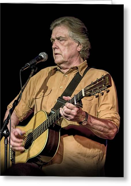 Texas Singer Songwriter Guy Clark Greeting Card by Randall Nyhof