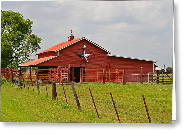 Texas Star Barn Greeting Card by Lynn Bauer