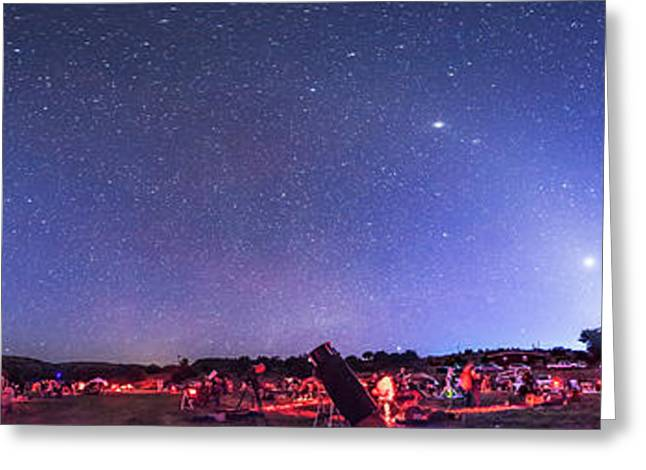 Texas Star Party Panorma At Twilight Greeting Card
