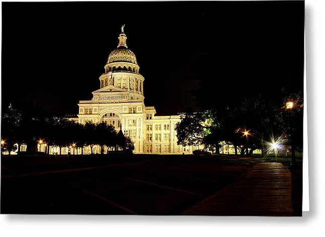 Greeting Card featuring the photograph Texas State Capitol by Dave Files