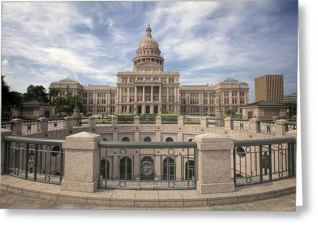 Texas State Capitol Iv Greeting Card by Joan Carroll