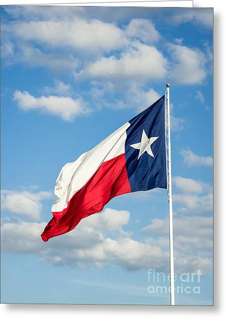 Texas State Flag Waving Greeting Card