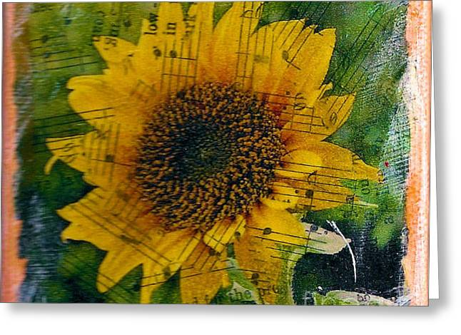 Texas Sunflower Yellow Greeting Card by Ruby Cross