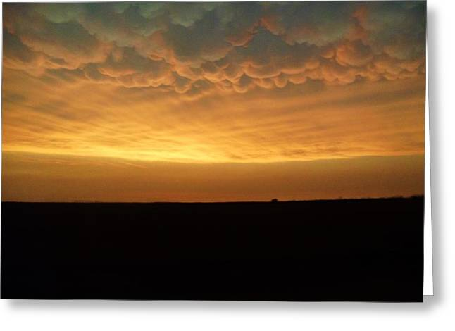 Greeting Card featuring the photograph Texas Sunset by Ed Sweeney