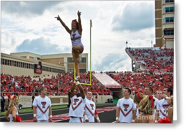 Texas Tech Cheerleaders Greeting Card by Mae Wertz