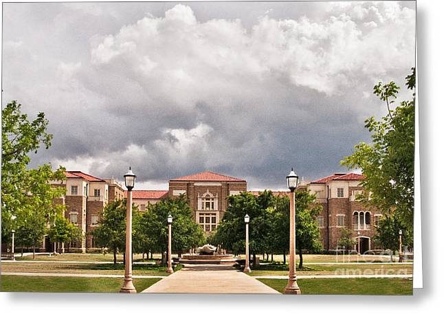 Greeting Card featuring the photograph School Of Education by Mae Wertz
