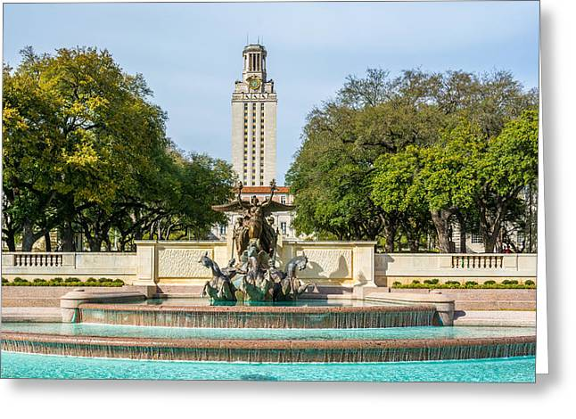 Texas Tower From Littlefield Fountain Greeting Card by Wally Taylor