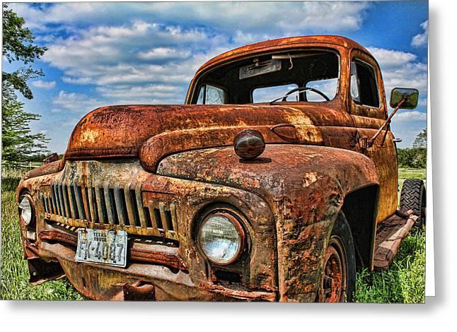 Texas Truck Greeting Card by Daniel Sheldon