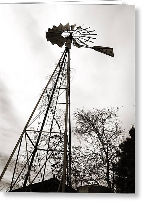 Texas Windmill Greeting Card
